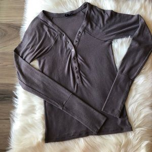 Out From Under for UO Snap Buttons Henley Shirt